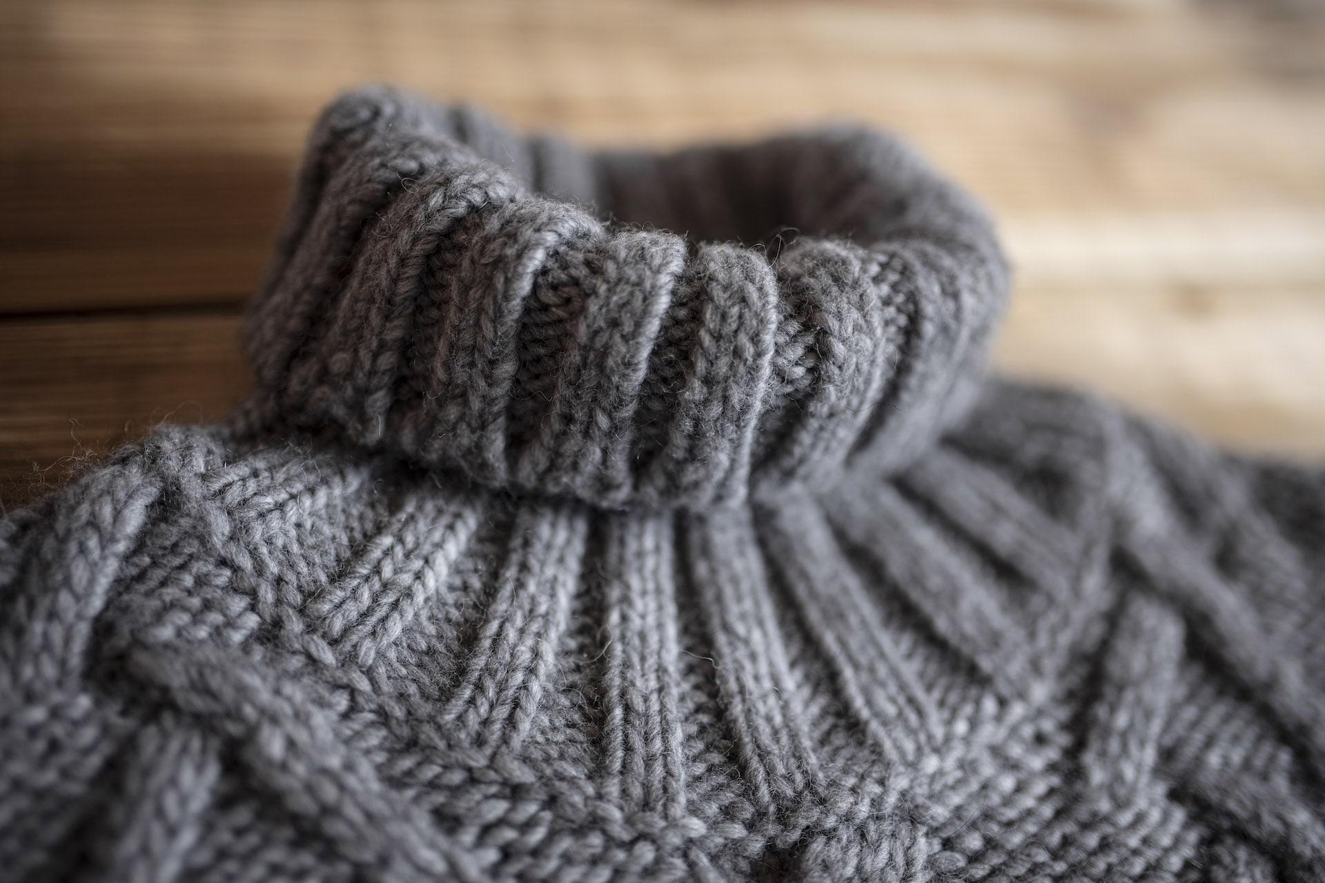 maglione in lana con i filati ecologici maglieria gz